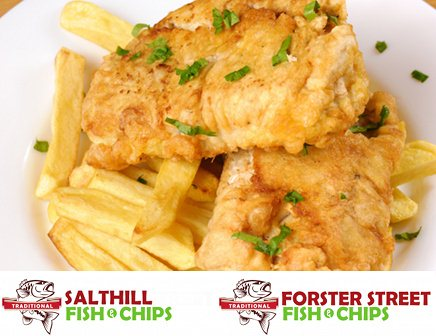 Meal for Two at Salthill & Forster Street Traditional Fish & Chips