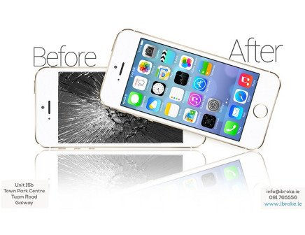 iPhone Screen Repair offers with FREE screen protector